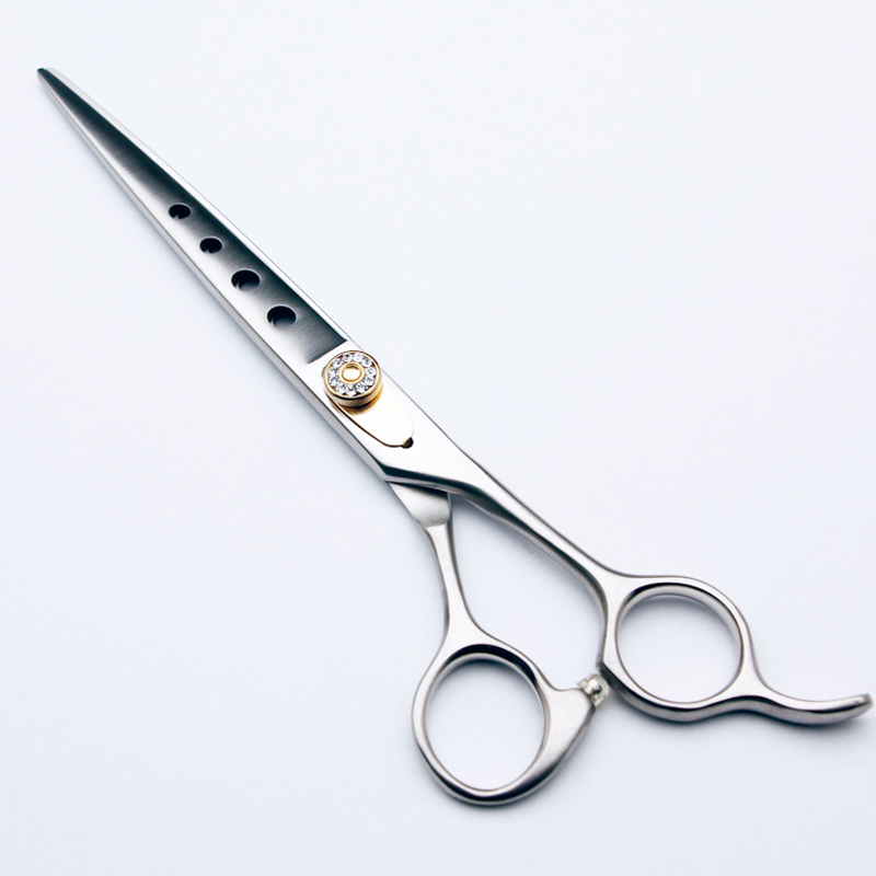 7 Inch Pet Dog Grooming Straight Scissors 440C Stainless Steel Shears